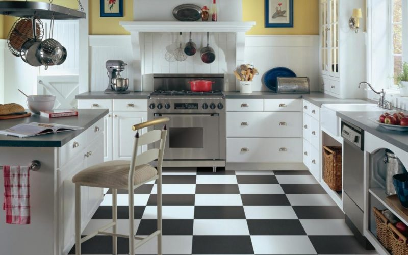 Rubber Flooring in Bathrooms and kitchens   Park View Residence
